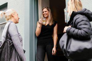 Jo Behrens welcomes clients into the Studio Hobart